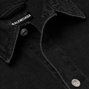 Balenciaga Jackets & Coats - Balenciaga Oversized Printed Canvas Denim Jacket